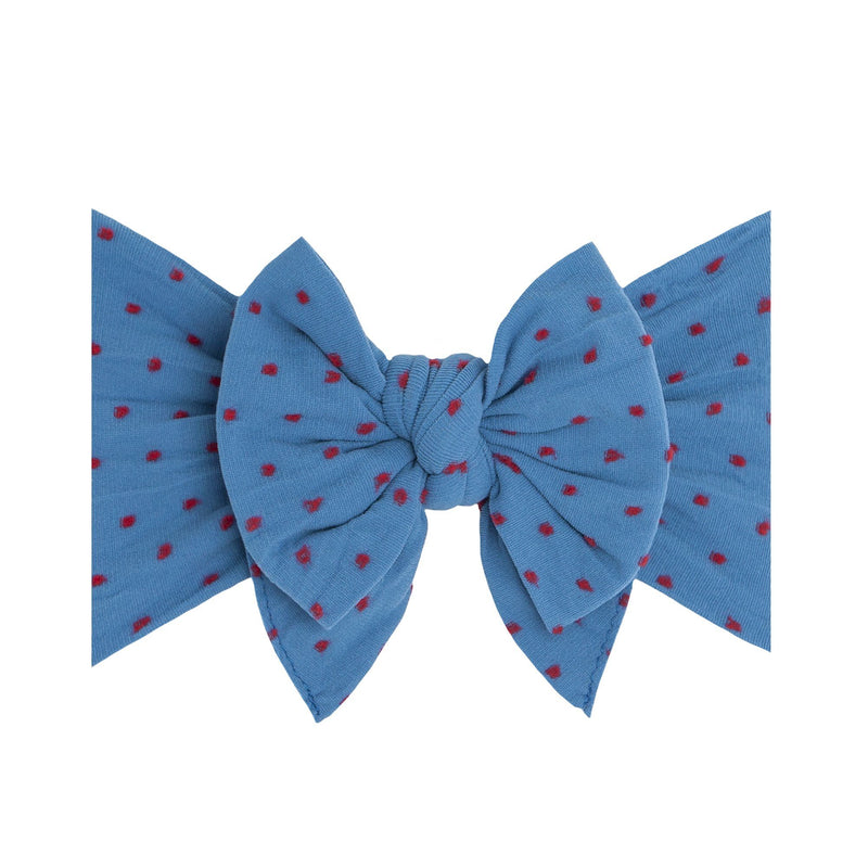 Denim Red Dot Shabby Dang Enormous Bow - Project Nursery