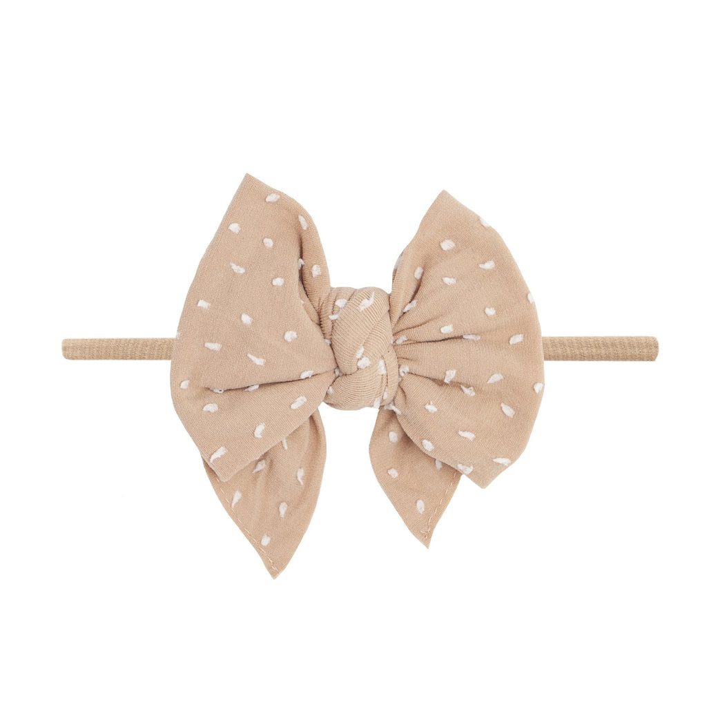 Blush Dot Shabby DEB Skinny Headband - Project Nursery