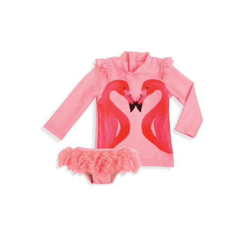 FLAMINGO RASH GUARD SET - Project Nursery