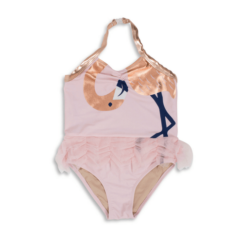 LET'S FLAMINGLE HALTER SWIMSUIT - Project Nursery