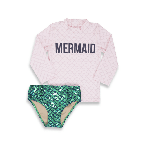 Magic Mermaid Pink Rash Guard Set - Project Nursery