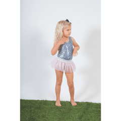 Silver Metallic Mermaid Scoop Swimsuit Set - Project Nursery