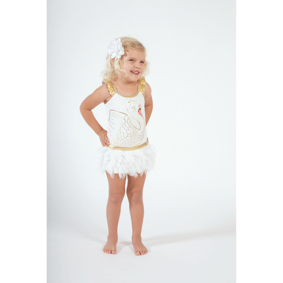 Swan Princess One-Piece Bathing Suit + Tutu - Project Nursery