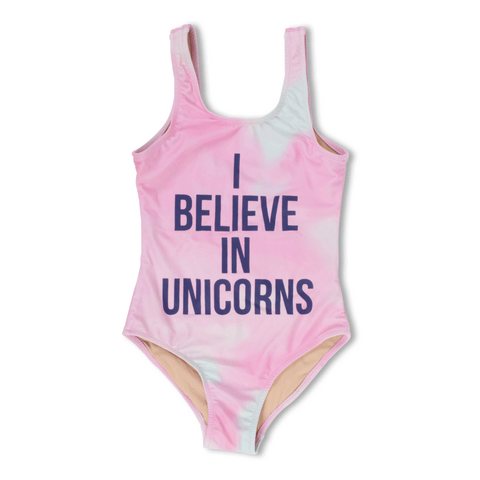 Unicorns and Rainbows Tie-Dye One-Piece Swimsuit