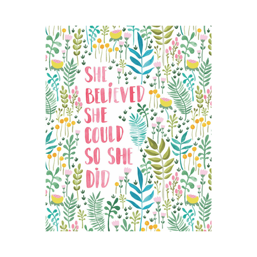She Believed She Could Art Print - Project Nursery