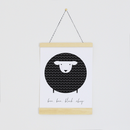 Baa Baa Black Sheep Canvas Banner - Project Nursery