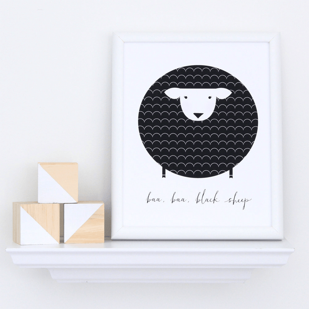 Baa Baa Black Sheep Art Print  - The Project Nursery Shop - 2