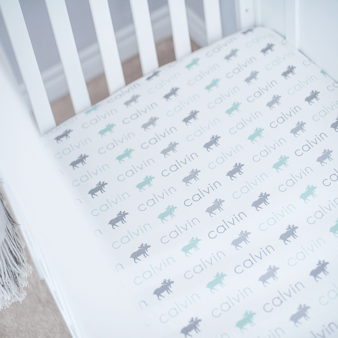 Personalized Organic Cotton Crib Sheet - Project Nursery