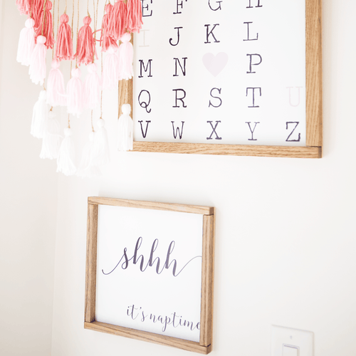 Shhhh, It's Naptime Wooden Sign - Project Nursery