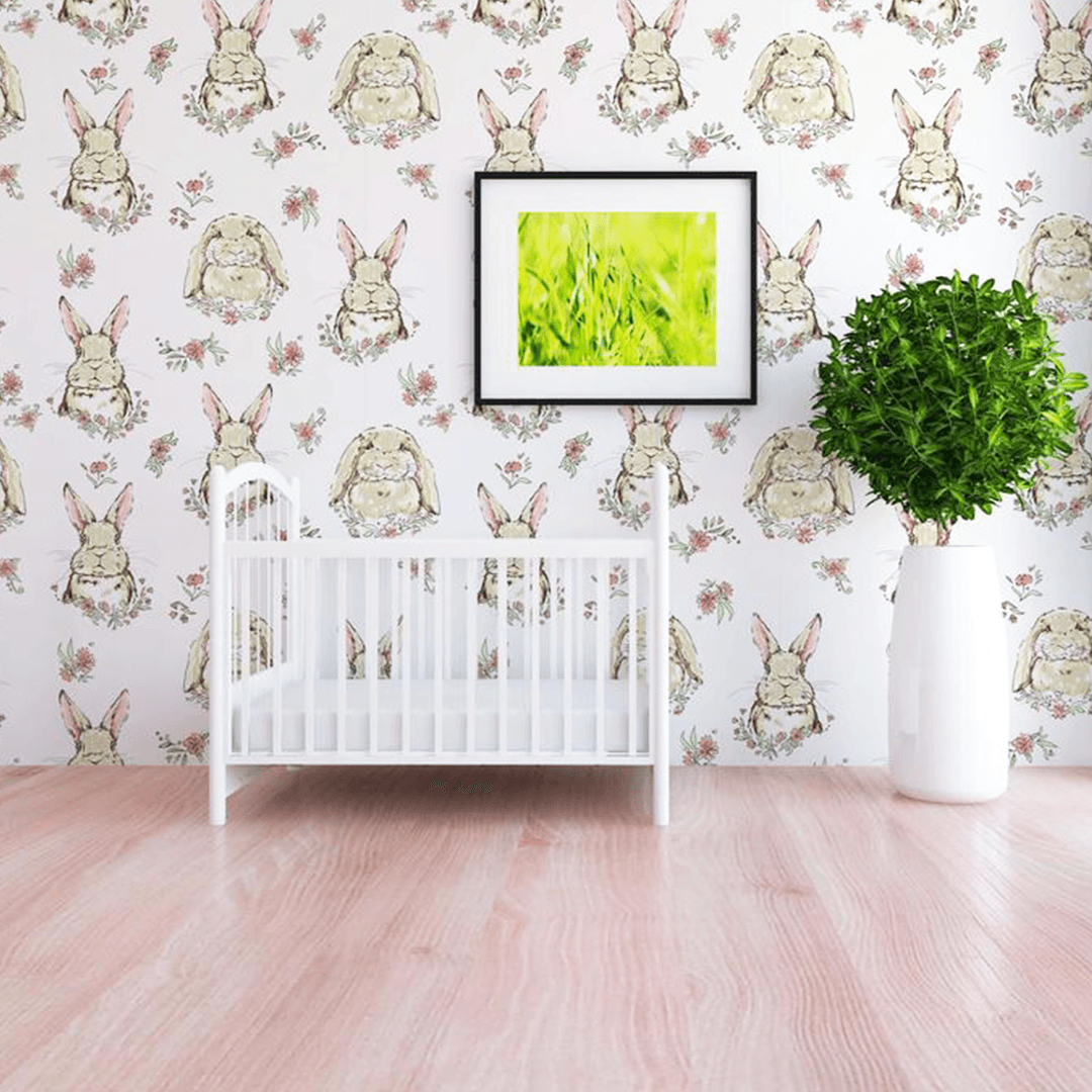 Briar the Bunny Wallpaper - Project Nursery