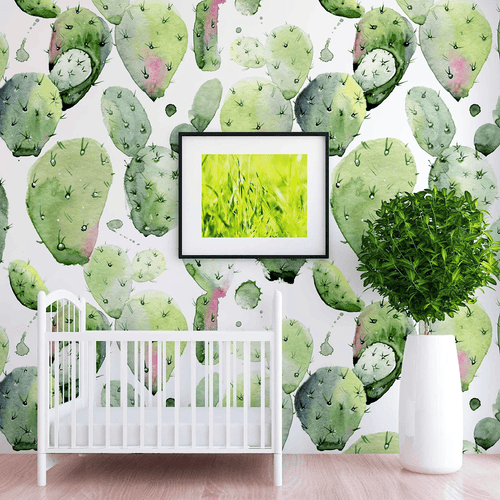 Pierce Cactus Wallpaper - Project Nursery