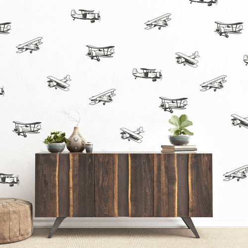 Delta Airplane Wall Decal Set - Project Nursery