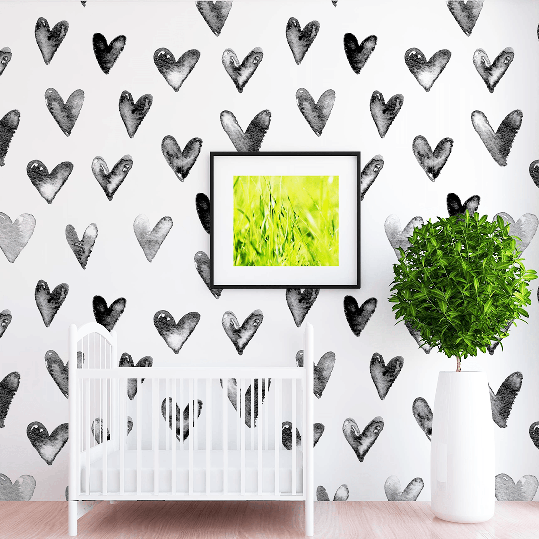 Juniper Heart Wallpaper - Project Nursery