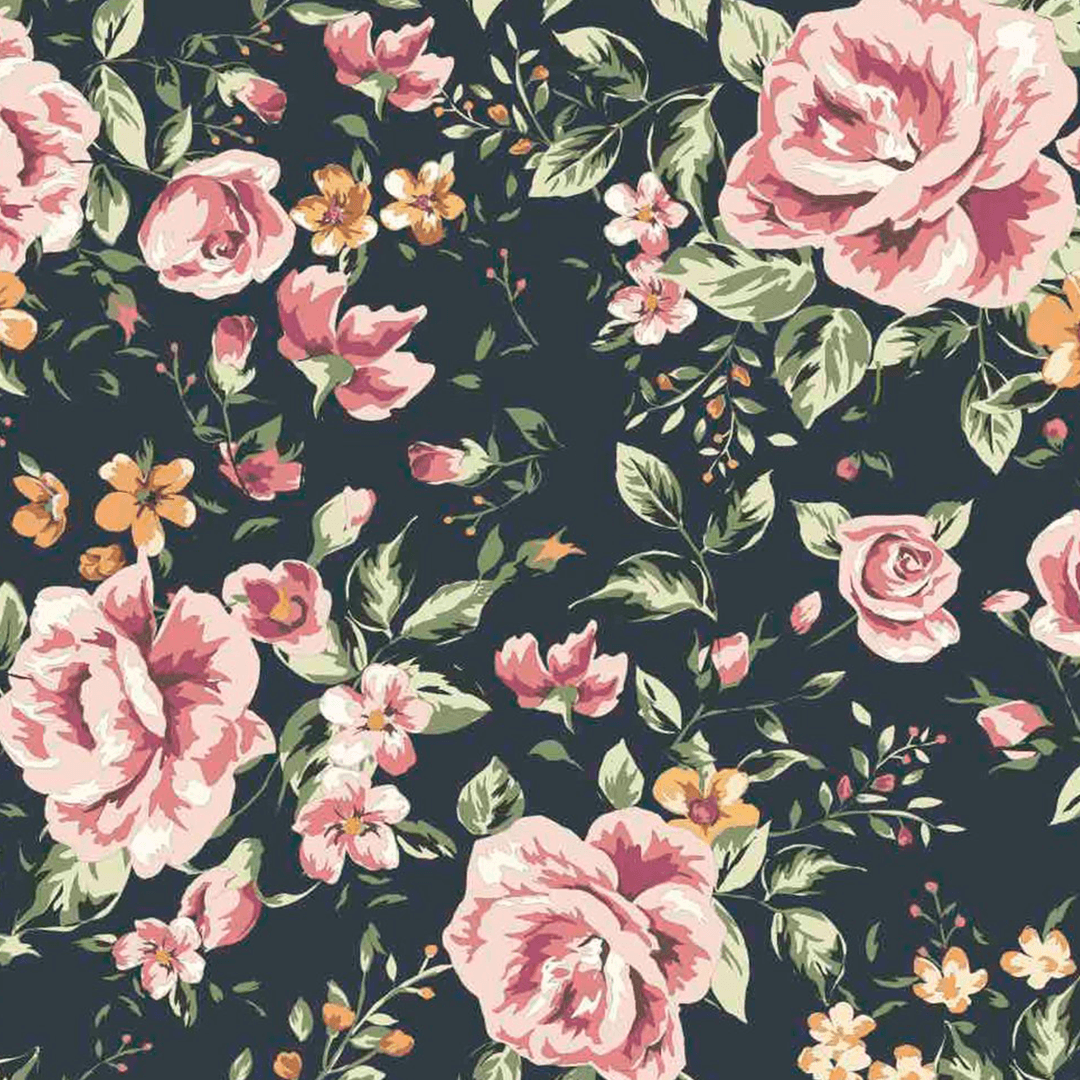 Marley Dark Floral Wallpaper Dark Flower Wallpaper Project Nursery