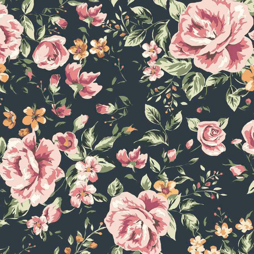 Marley Dark Floral Wallpaper - Project Nursery