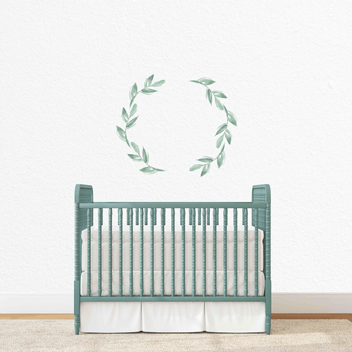 Olive Wreath Individual Wall Decal - Project Nursery