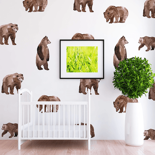 Oscar Bear Wall Decal Set - Project Nursery