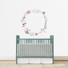 Purple Floral Wreath Individual Wall Decal - Project Nursery