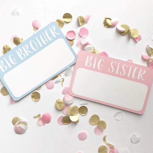 Personalized Sibling Announcement Sticker - Project Nursery