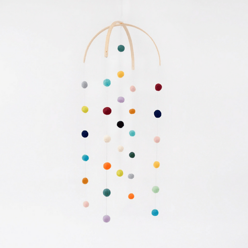 Felt Ball Mobile - Project Nursery
