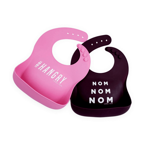 #HANGRY + Nom Nom Nom Silicone Bib Set - Project Nursery