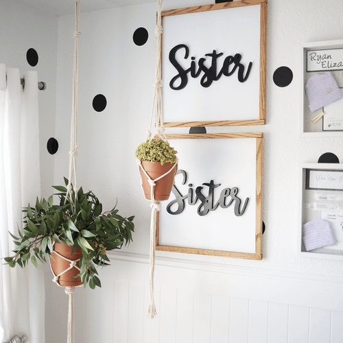 Sister, Sister Cursive Wooden Sign Set - Project Nursery
