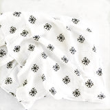 Snowflakes Organic Swaddle  - The Project Nursery Shop - 3
