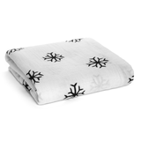 Snowflakes Organic Swaddle  - The Project Nursery Shop - 1