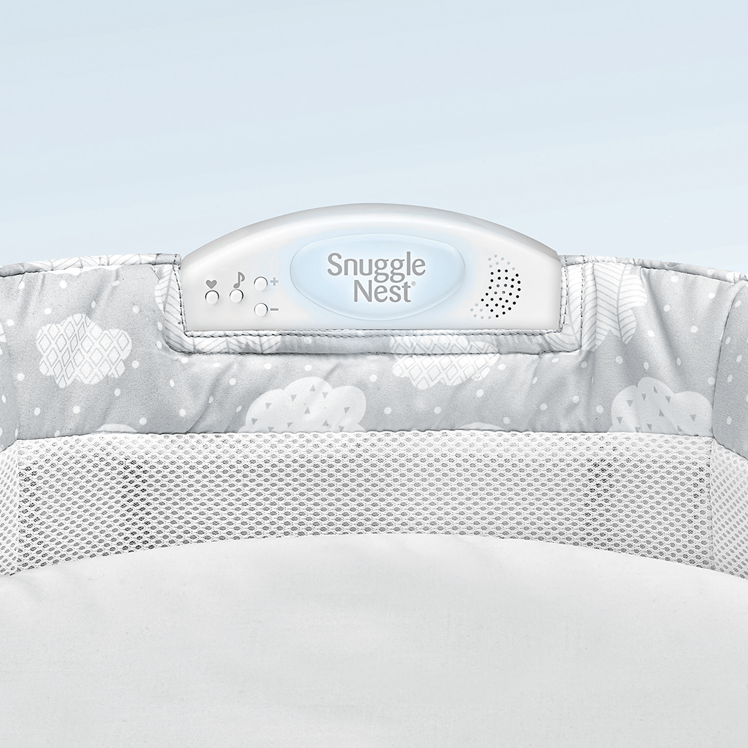 Snuggle Nest Harmony Infant Sleeper - Silver Clouds - Project Nursery
