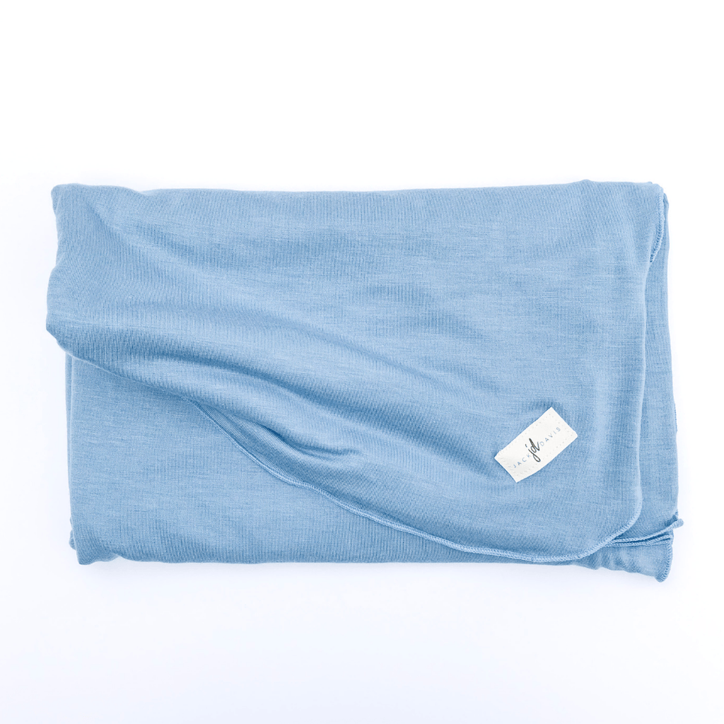 Solid Periwinkle Blue Swaddle Blanket - Project Nursery