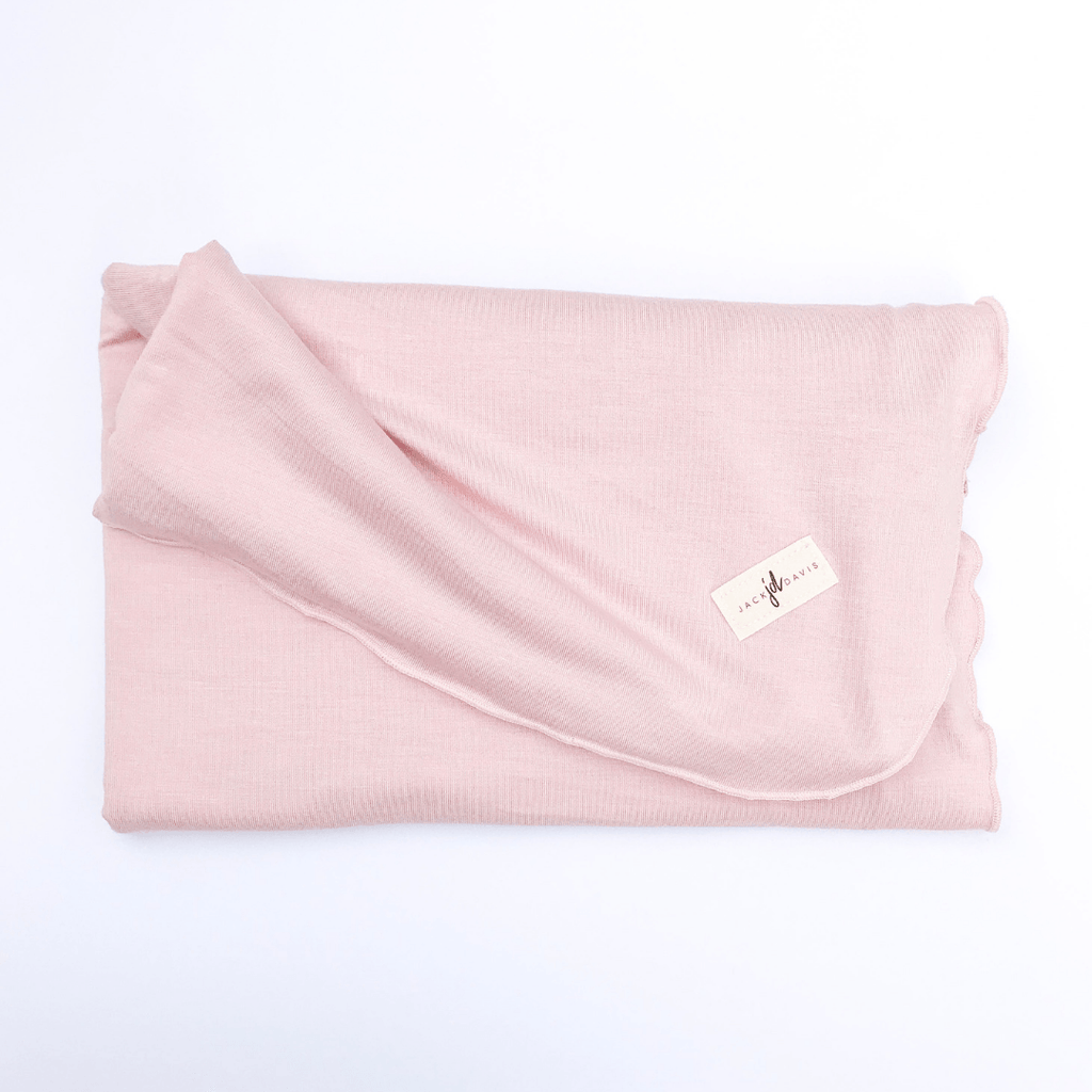 Solid Pink Swaddle Blanket - Project Nursery
