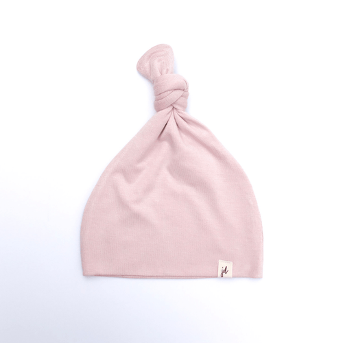 Solid Pink Top Knot Hat - Project Nursery