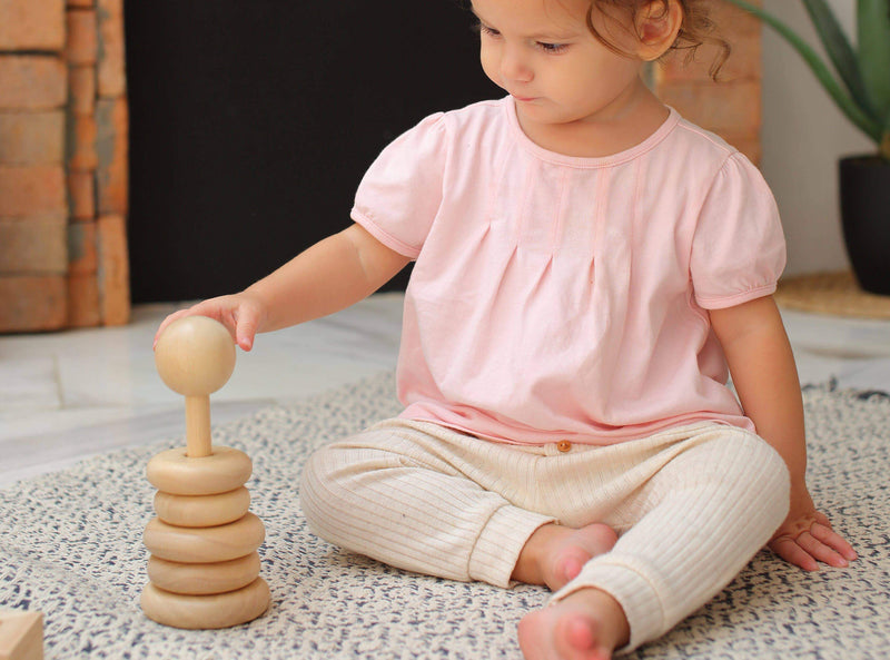 Natural Stacking Ring Toy - Project Nursery