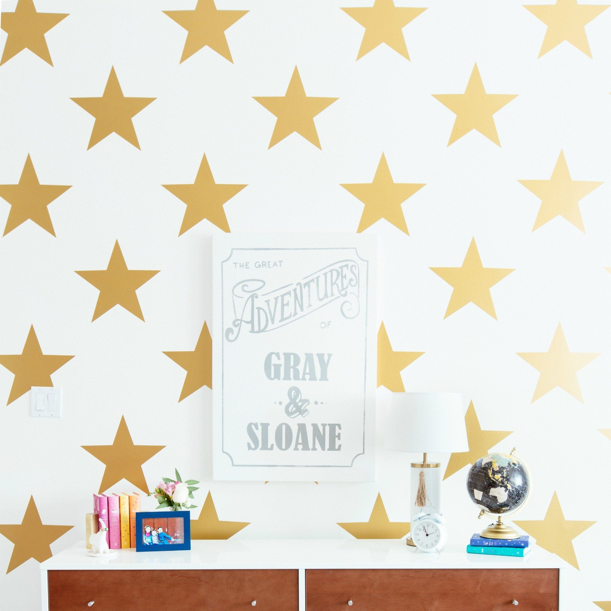 Star wall decals gold