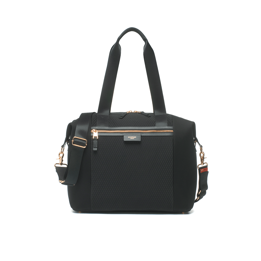 Stevie Luxe Diaper Bag - Black - Project Nursery