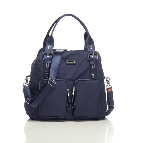 Robyn Diaper Bag - Navy Stripe