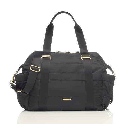 Robyn Faux Leather Diaper Bag - Black