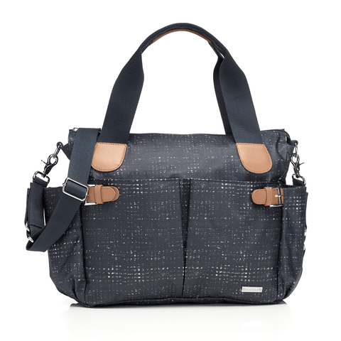 Retro Diaper Bag in Slate Black