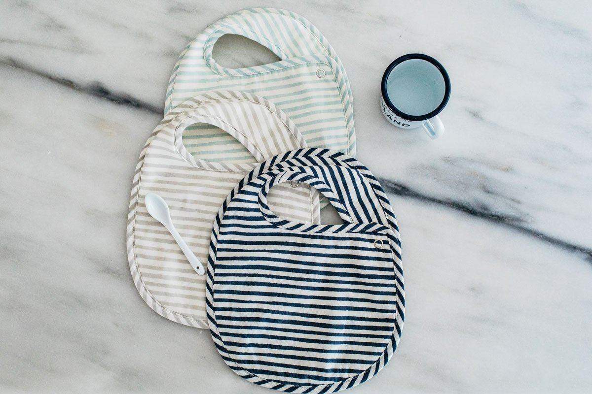 Stripes Away Bib Set - Sea - Project Nursery