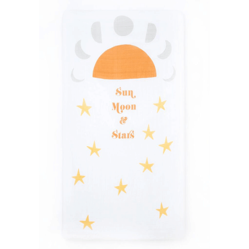 Sun Moon Stars Crib Sheet - Project Nursery