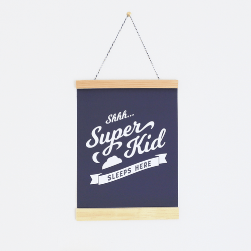 Superhero Sleeps Here Canvas Banner - Project Nursery