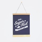 Superhero Sleeps Here Canvas Banner Charcoal - The Project Nursery Shop - 1