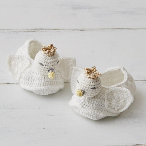 Crochet Swan Booties - Project Nursery