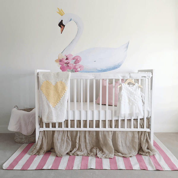Baby Room Wall Décor Ideas Tips For Careful Parents: Swan Princess Wall Decal