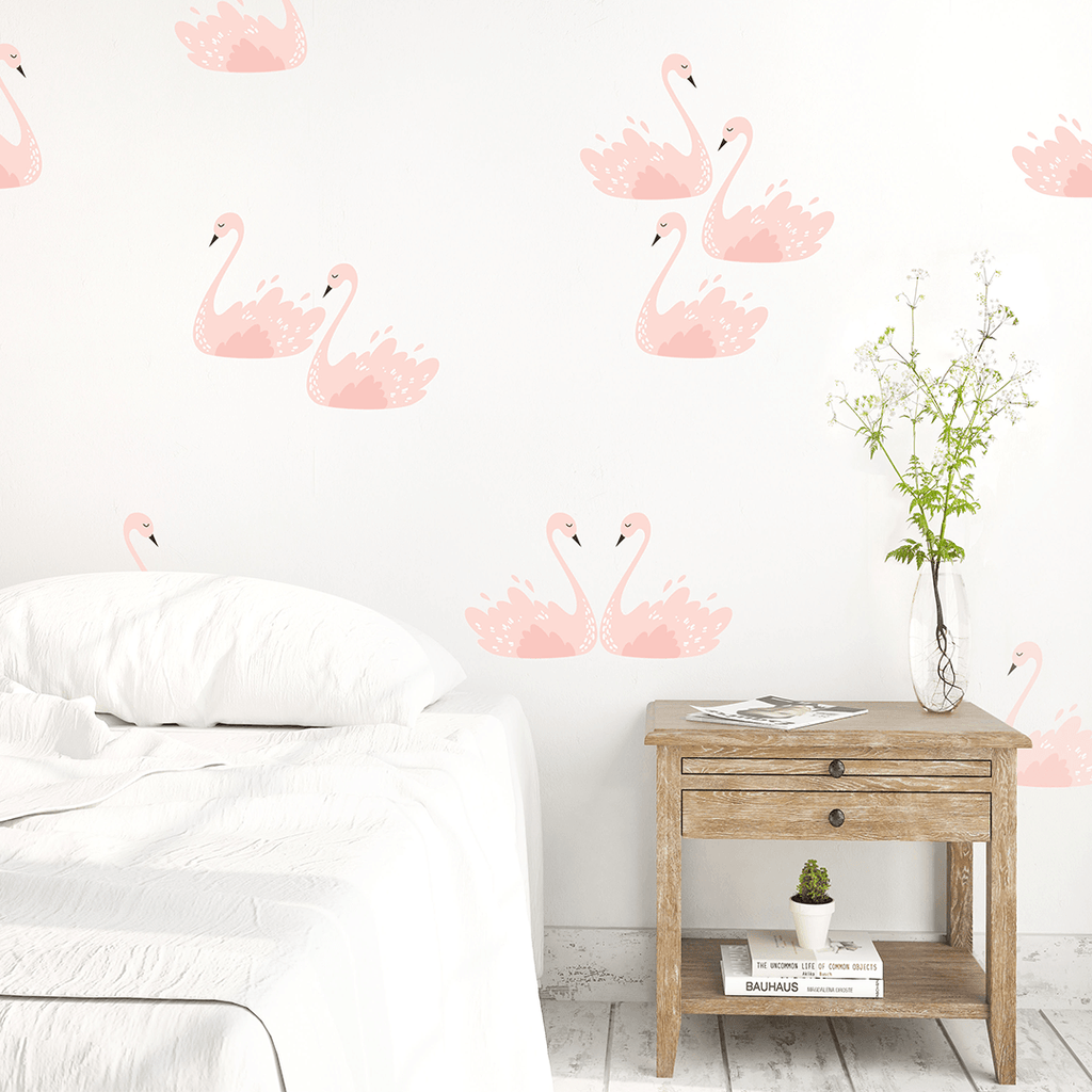 Pink Swans Wall Decals - Project Nursery