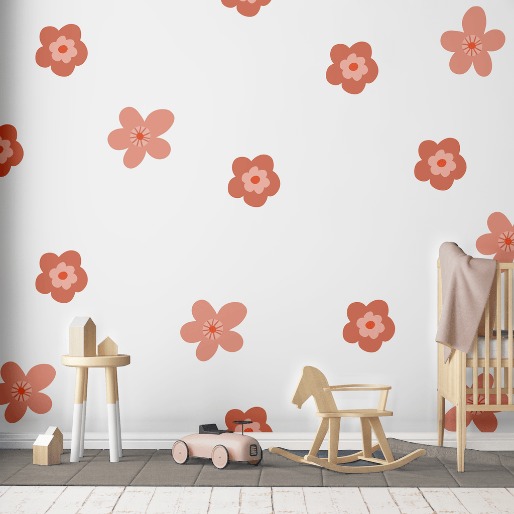 Sweet Flower Decals - Coral - Project Nursery