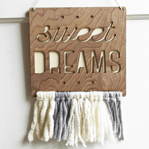 Sweet Dreams Wall Hanging - Project Nursery