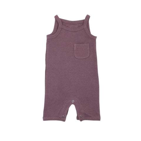 Organic Solid V-Neck Bodysuit - Light Gray