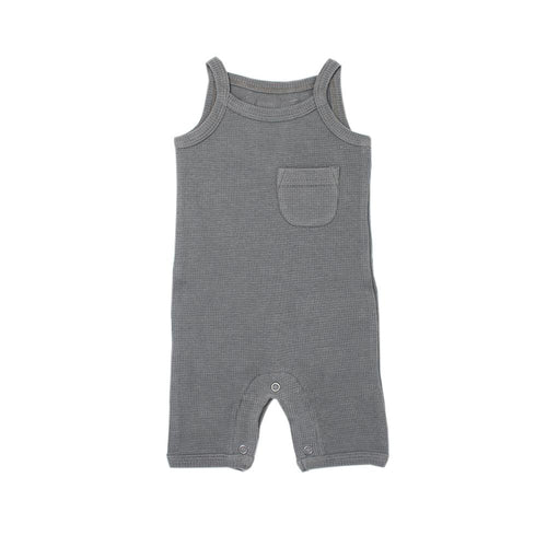 Organic Thermal Romper - Graphite - Project Nursery