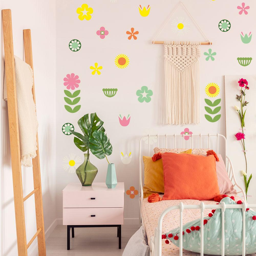 Retro Floral Wall Decals - Project Nursery